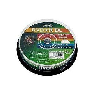 DVD+RDLデ-タ用メディア レーベルワイドタイププリンタブル白10枚HDD+R85HP10【10個セット】