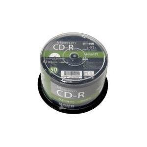 デ‐タ用CD-Rメディア52倍速 レーベル ワイドタイプ プリンタブル白50枚スピンドルMXCR80GP50