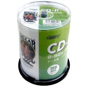 データ用CD-Rメディア52倍速 レーベル ワイドタイプ プリンタブル白100枚スピンドル GXCR80GP100