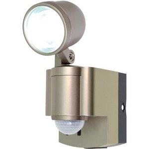 【防犯グッズ】LED×1灯・ELPA 防雨センサーライト(単3形乾電池×4本) ESL-301BT