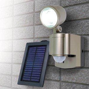 【防犯グッズ】LED×1灯・ELPA 防雨センサーライト(ソーラー) ESL-301SL