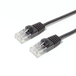 ミヨシ(MCO) 短いLANケーブル TWS-63BK 0.3m 【5本セット】 ブラック