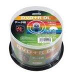HIDISC DVD+R DLデ‐タ用メディア レーベル ワイドタイプ プリンタブル白50枚スピンドル HDD+R85HP50 【6個セット】