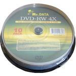 データ用DVD-RW 4.7GB 4倍速 10枚入 DVD-RW47-4X10PS×20P 【20個セット】