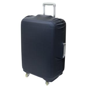 ミヨシ スーツケースカバー スタンダードカラータイプ MBZ-SCL3/BK ブラック - 拡大画像