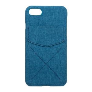 ミヨシ(MCO) iPhone 7用 4.7インチ ポケット付きファブリックケース IPC-CR01/NV ネイビー