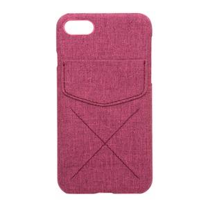 ミヨシ(MCO) iPhone 7用 4.7インチ ポケット付きファブリックケース IPC-CR01/PK ピンク