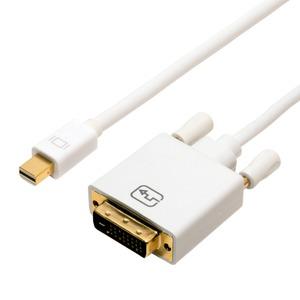 ミヨシ FullHD対応 miniDisplayPort - DVI-D ケーブル DPC-2KDV20/WH h01