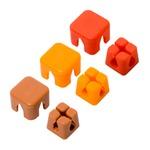 ミヨシ ケーブルホルダー キューブタイプミニ  ピンク/オレンジ/ブラウン CM-CHCS/AS2【3個セット】