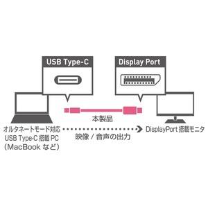 ミヨシ(MCO) Type-C-DisplayPortケーブル 2m ブラック USB-CDP2/BK