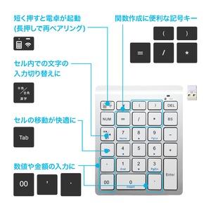 ミヨシ(MCO) 2.4GHz接続 ワイヤレステンキー ブラック TEN24G01/BK