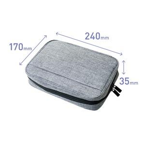 ミヨシ (MCO) ガジェットケース 大容量タイプ グレー BAG-GE02/GY