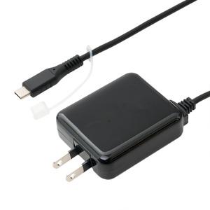 ミヨシ ロングケーブル一体型 USB Type-C対応 充電用ACアダプタ ブラック IPA-CC35/BK