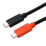 ミヨシ USB Type-C - Type-Cケーブル USB PD対応 /eMarker内蔵 0.5m UPD-205/BKの画像