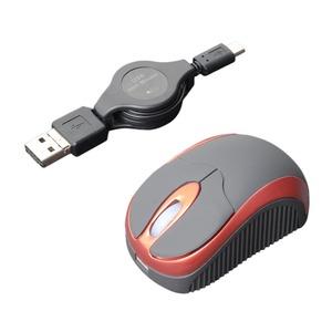 ミヨシ (MCO) コードリールケーブル モバイルミニマウス USB A / micro B対応 レッド SRM-MB01/RD