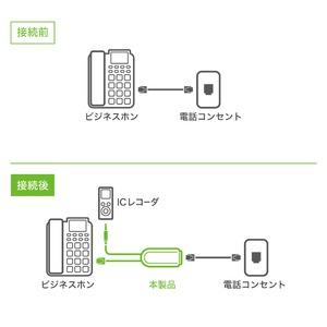 ミヨシ 6極2芯対応 通話録音アダプタ DRA-L62/WH