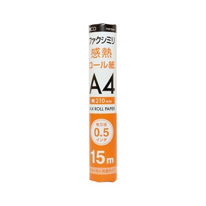 ミヨシ(MCO) FAX用感熱ロール紙(A4サイズ/0.5インチ) 15m巻き FXK15AH-1-24P【24本セット】