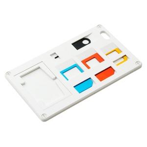 ミヨシ(MCO) SIMカードホルダー SIMカード変換アダプタ付 ホワイト SCM-SI01/WH