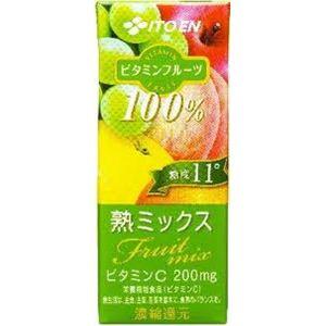 伊藤園 ビタミンフルーツ 熟ミックス 200ml 48本セット - 拡大画像