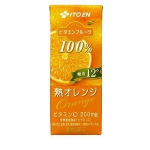 伊藤園 ビタミンフルーツ 熟オレンジ 紙パック 200ml 48本セット - 拡大画像