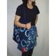 藍染カフェエプロン・エコバッグセット 藍×赤 写真1