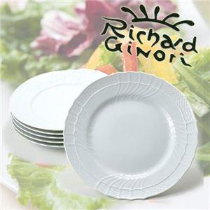 RICHARD GINORI(リチャードジノリ) ベッキオホワイト 21cm スーププレート 6枚組 - 拡大画像
