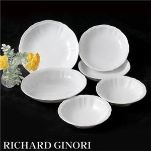 RICHARD GINORI(リチャードジノリ) ドッチャホワイト 15cm フルーツソーサー 4枚組 - 拡大画像