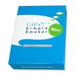 電子タバコ「Simple Smoker Mini(シンプルスモーカー Mini)」 スターターキット 本体+カートリッジ15本+携帯ケース&ポーチ セット 軽さNo1