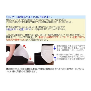 腰痛ベルト コレクト メッシュタイプ S