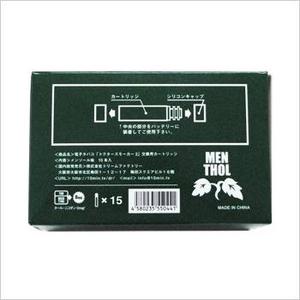 電子タバコ「ドクタースモーカー2」専用カートリッジ メンソール味 15本 通販、販売