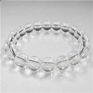 天然本水晶ブレス (ブレスレット) 10mm - 拡大画像