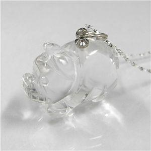 願いブタペンダント(ネックレス)水晶