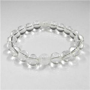 手彫り龍(2珠)水晶ブレス10mm
