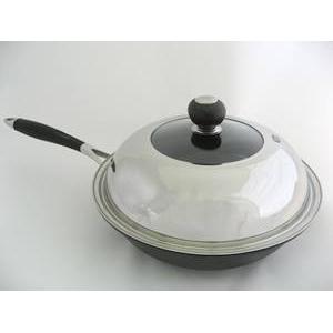 軽量鉄鋳物炒め鍋 SUS蓋付 FE宣言 28cm 1個