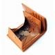 イタリア・キャピタルレザー使用! オールヌメ革ショートウォレット ブラウン - 縮小画像3