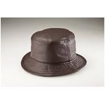 【G・ガリアーノ】折りたためる柔らかラム革帽子 ブラウン Lサイズ