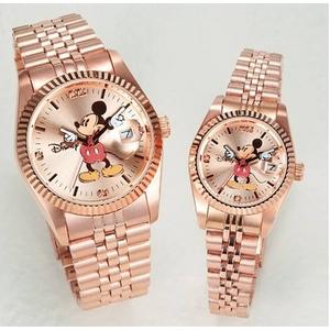 パイカットミッキー1アイグリッツ 腕時計【メンズ ピンクゴールド】 - 拡大画像