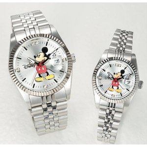 パイカットミッキー1アイグリッツ 腕時計【メンズ シルバー】 - 拡大画像