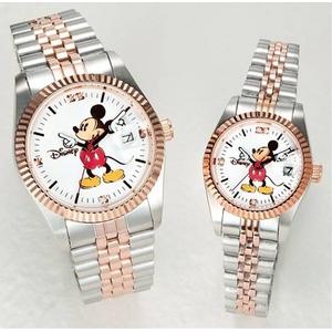 パイカットミッキー1アイグリッツ 腕時計【レディース ピンクゴールドコンビ】 - 拡大画像