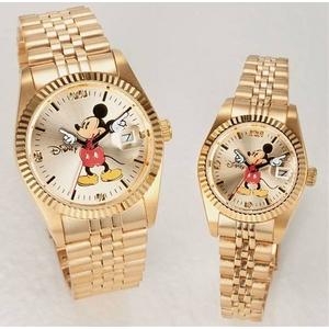 パイカットミッキー1アイグリッツ 腕時計【レディース ゴールド】 - 拡大画像