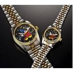 ミッキーダイヤモンドファンタジア 腕時計【メンズ ブラック】