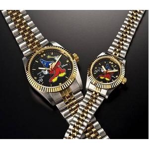 ミッキーダイヤモンドファンタジア 腕時計【レディース ブラック】 - 拡大画像