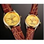 ミッキーマウス 時計24金仕上げ文字盤 腕時計【メンズ】