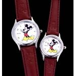 ミッキーマウス 皮腕時計【レディース】