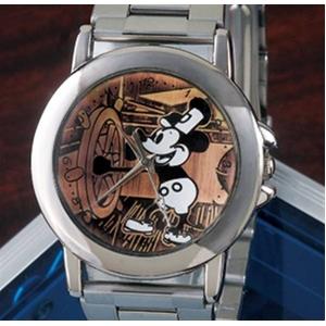 オールドミッキー高級牛革チェンジベルト付き 腕時計 - 拡大画像