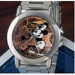 オールドミッキー高級牛革チェンジベルト付き 腕時計
