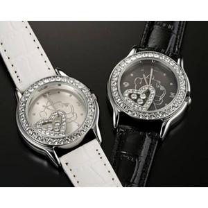 ハッピークリスタル プーさん 腕時計【ブラック】 - 拡大画像