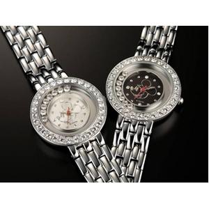 ハッピークリスタル ミッキー 腕時計【ホワイト】 - 拡大画像