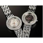 ハッピークリスタル ミッキー 腕時計【ホワイト】