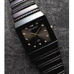 ペレバレンチノ ダイヤモンドミラノ腕時計 ブラック メンズ
